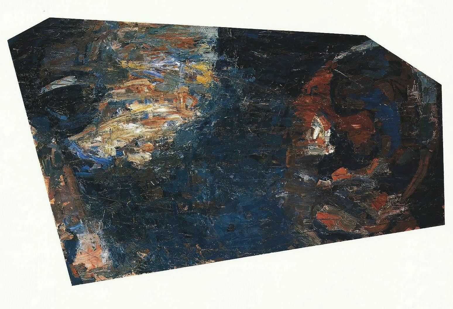 Features-Young Man, 101X175cm, oil  on wood, 1994, Athens