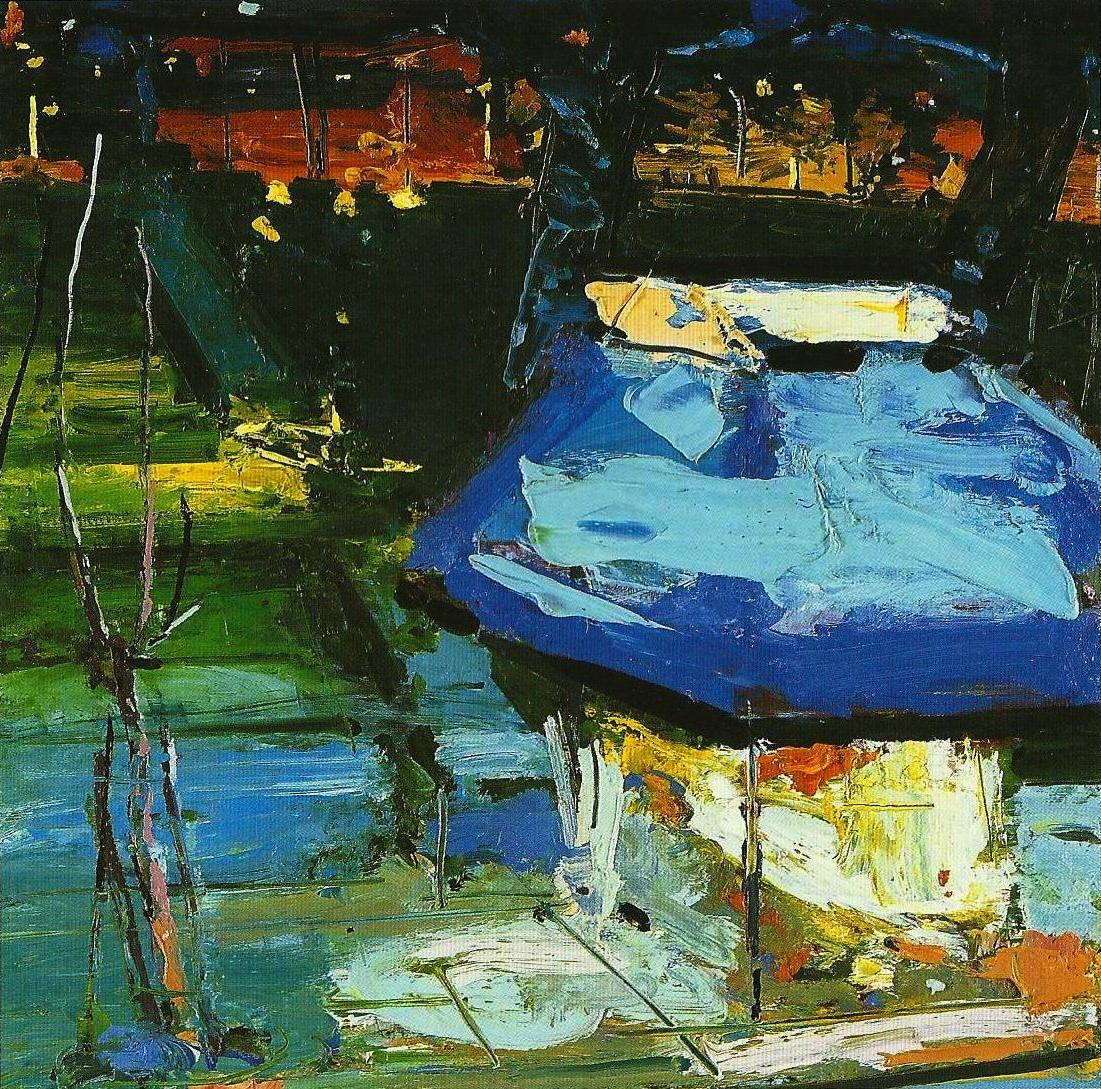 Kiosk at Night, 50X50cm,oil on  canvas,2003, Athens